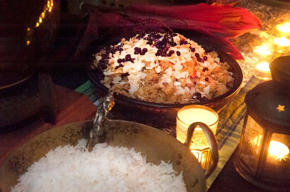 Jewelled Cous Cous and Jasmine Infused Rice at the Tagine Bar