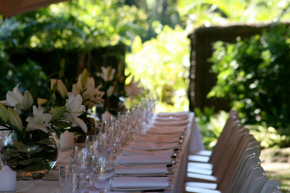 Long Set Tables in the Garden