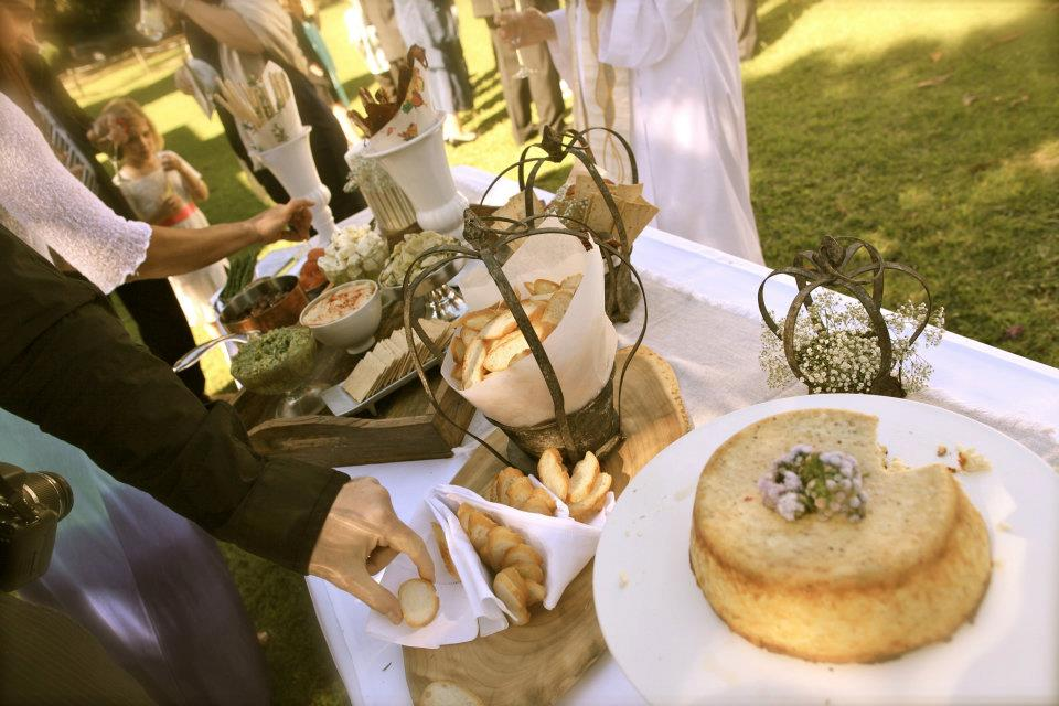 The Mezze Spread outside the Church