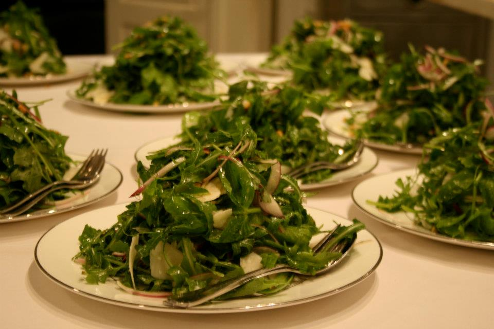 Parmesan and Rocket Salad, Lemon Vinaigrette