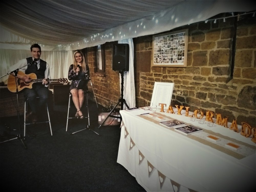 Taylormade Acoustic Duo and Live Wedding Band Crockwell Farm