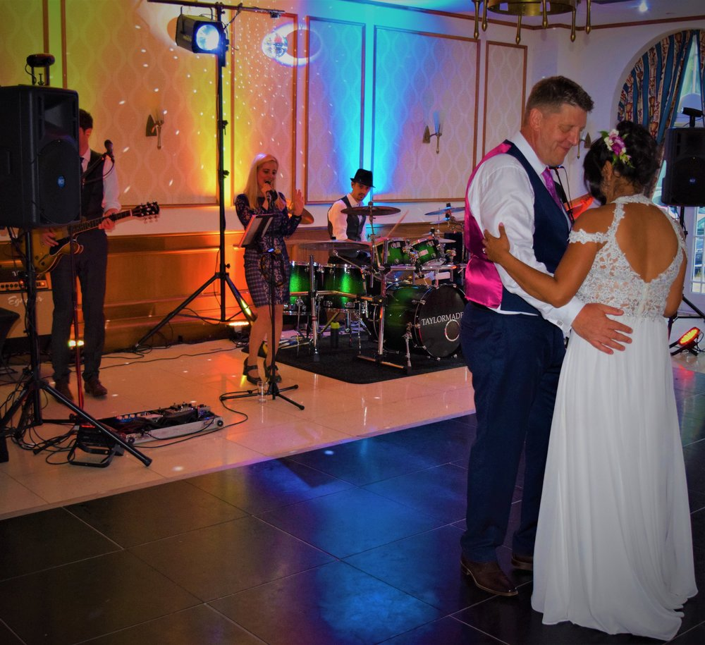Mark and Mala First Dance Taylormade Live Wedding Band Quorn Country Hotel