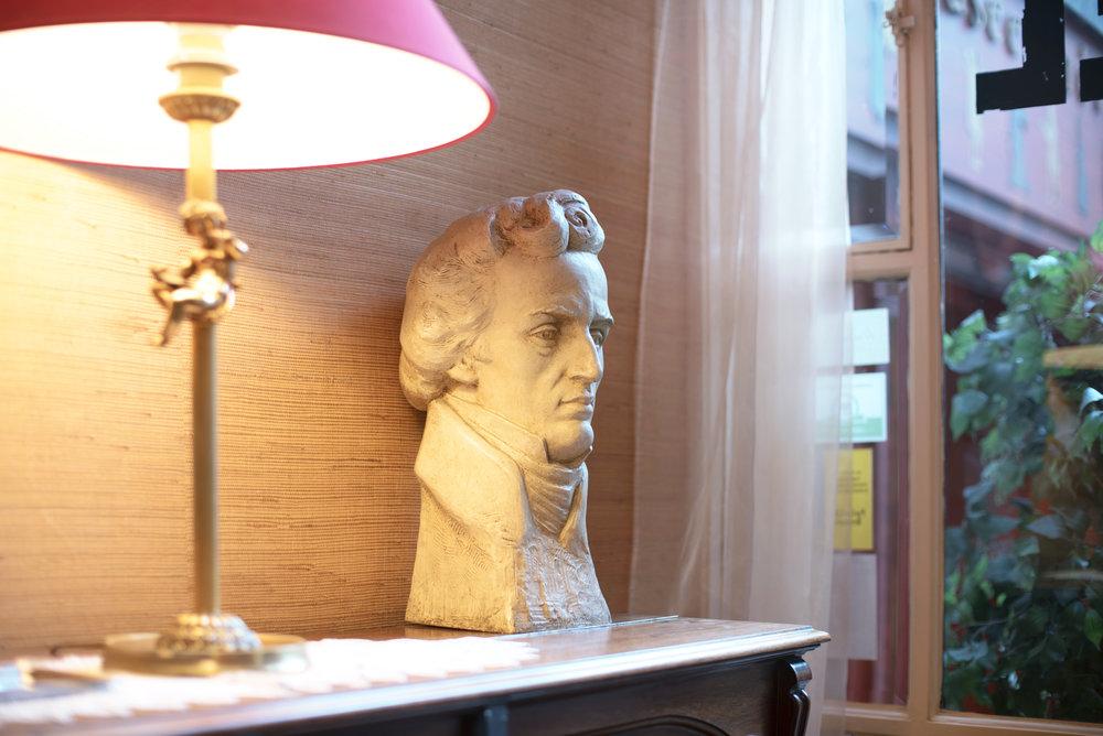 Hôtel Chopin Grands-Boulevards Paris, by Elina Akselrud