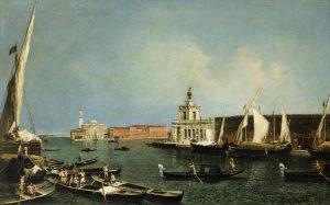 Michele Marieschi,  La Punta della Dogana e san Giorgio Maggiore