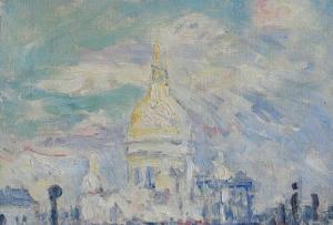 Maxime Emile Louis Maufra,  Le Sacré Coeur au Printemps