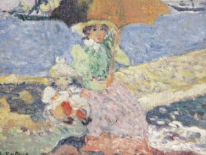 Louis Valtat, (French, 1869 – 1952) Mère Et Enfant Au Bord De La Plage