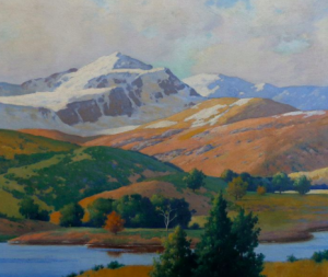 Snow Capped Mountains  by Albert Clintion Conner