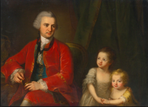 Angelica Kauffman R.A.  , Portrait of John Apthorp (1730-1772) of Boston and his Daughters