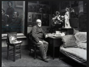 Henri Fantin-Latour in his studio in Paris