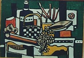 Fernand Léger (1881-1955),  Still Life with a Blue Bottle  (1950)