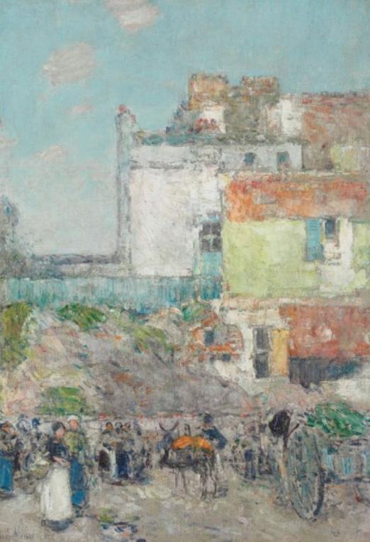 Childe Hassam,  Marché St. Pierre, Montmartre