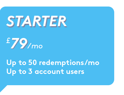For startups and small teams looking to occasionally delight - ✓ Personalised redemption notifications to recipients✓ Real-time analytics
