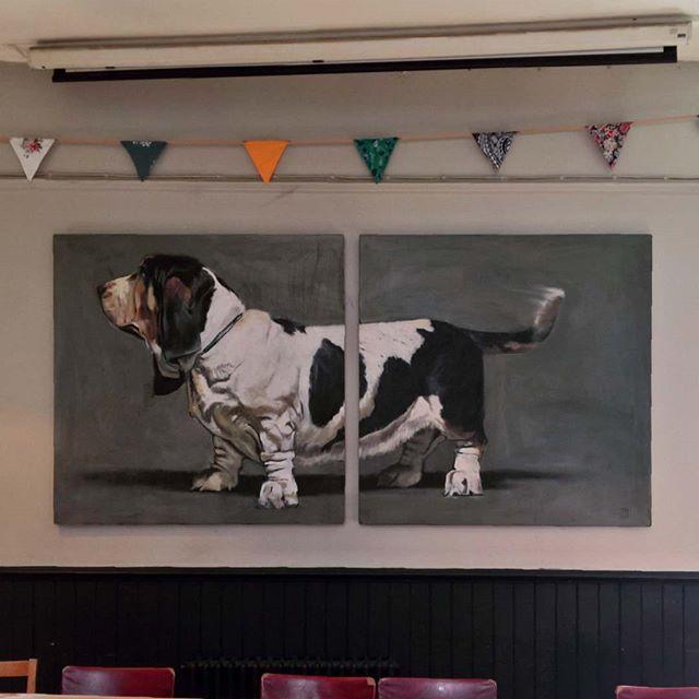 Majestic.  #majestic #hoheitsvoll #beautiful #dog #hund #dogart #art #painting #hundekunst #kunst #malerei #dogfriendlypub #eastlondon #ostlondon #dalston #scolthead