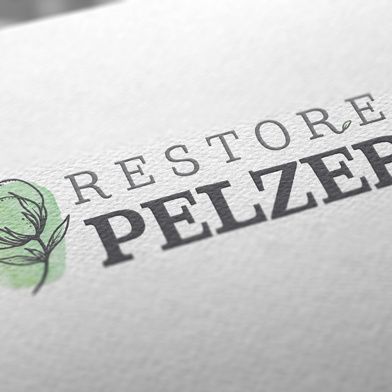 Restore Pelzer - The aged and rusting community of Pelzer, SC, is united with a logo that both invokes history and points to a bright, optimistic future.
