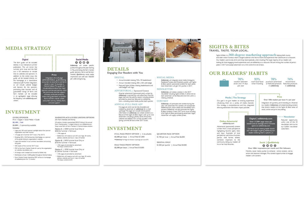 edible communities design magazine ad design freelance graphic illustration media kit contract for hire chimera chimeraco collective page spread