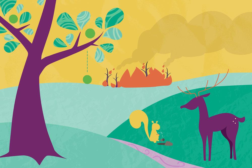 illustration chimera nature vector magazine children's book freelance contract design graphic