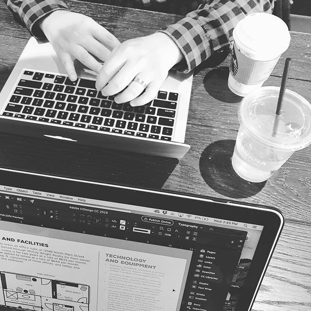 We've been fueling up on coffee and free WiFi all week because we're working on BIG things! We can't tell you what it is yet, but you're going to love it. 💛💛💛