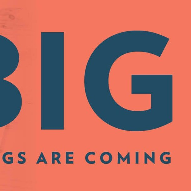 Coming soon: something BIG! Be on the lookout for updates later this month.