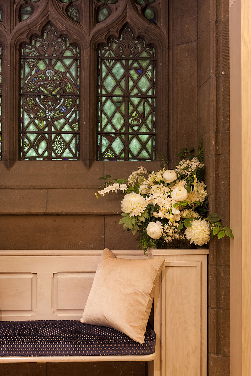 FAPC Columbarium - Stained Glass Window & Seating