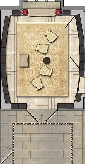 FAPC Columbarium - Rendered Floor Plan
