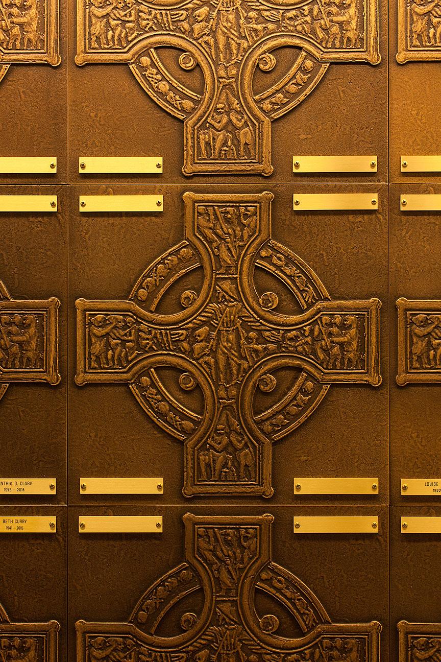 FAPC Columbarium - Celtic Crosses & Brass Name Plates