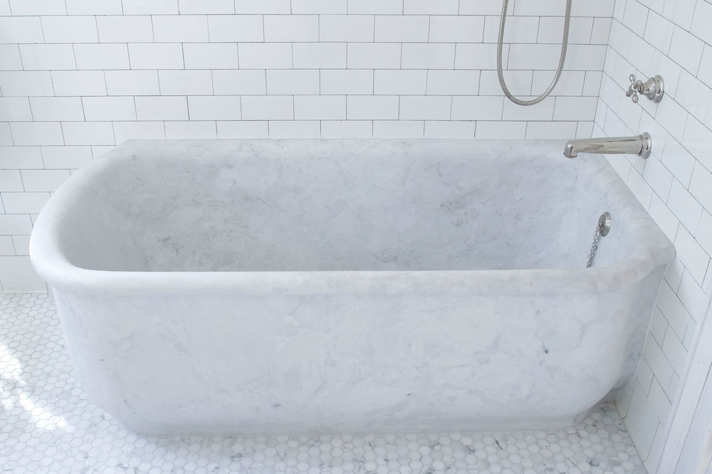 West Village Brownstone - Master Bathroom Tub