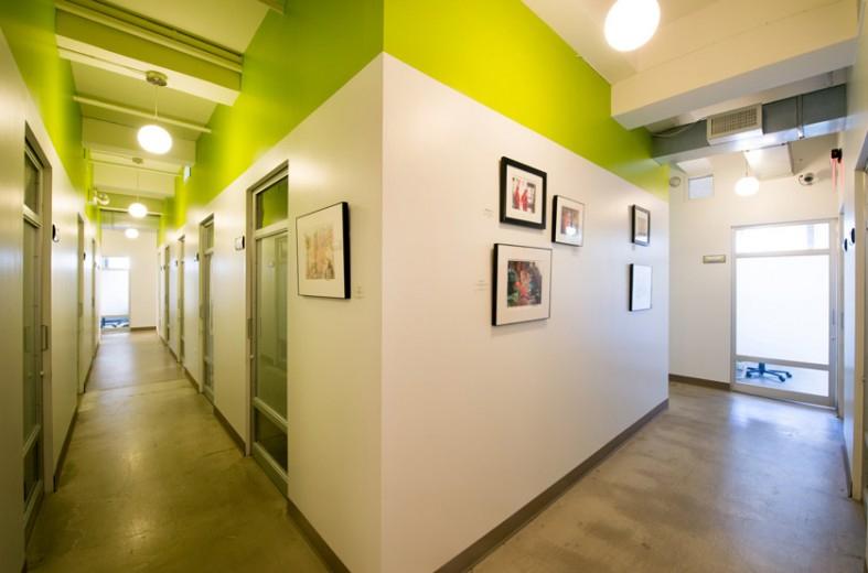 192 Broadway Corridor and Rotating Art Wall