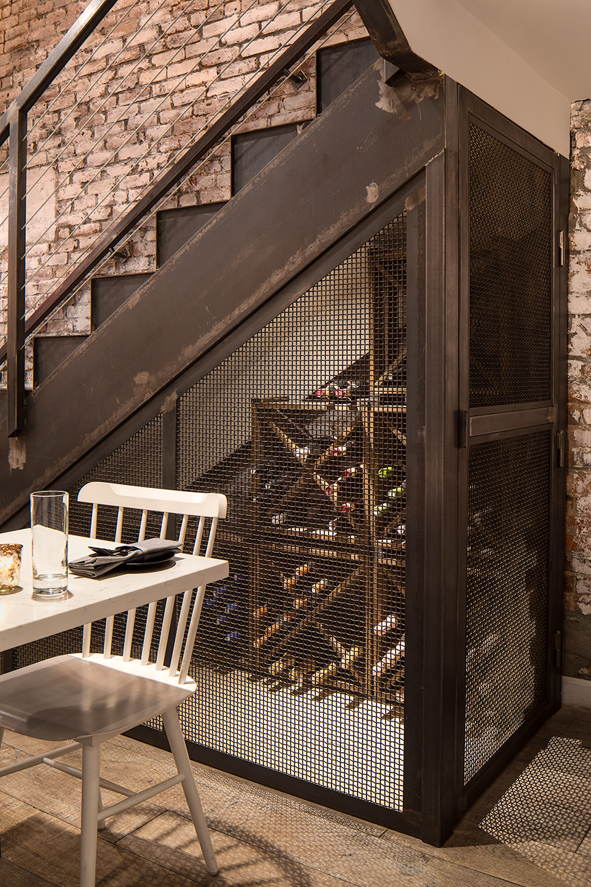 ps kitchen folded metal stair and wire storage
