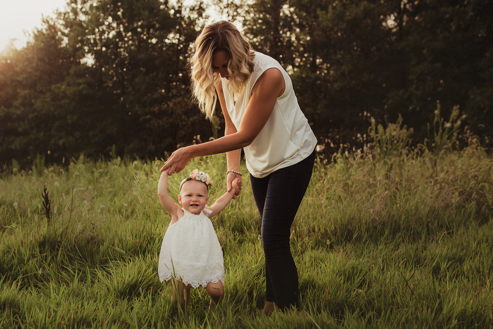 If dresses just totally aren't your style, you can opt for a super classy/casual look with a nice pair of jeans and top! Brittany here has the prettiest flowy white tank top and it looked incredible alongside her daughter's lace dress and floral headband. Perfect summer wardrobe!