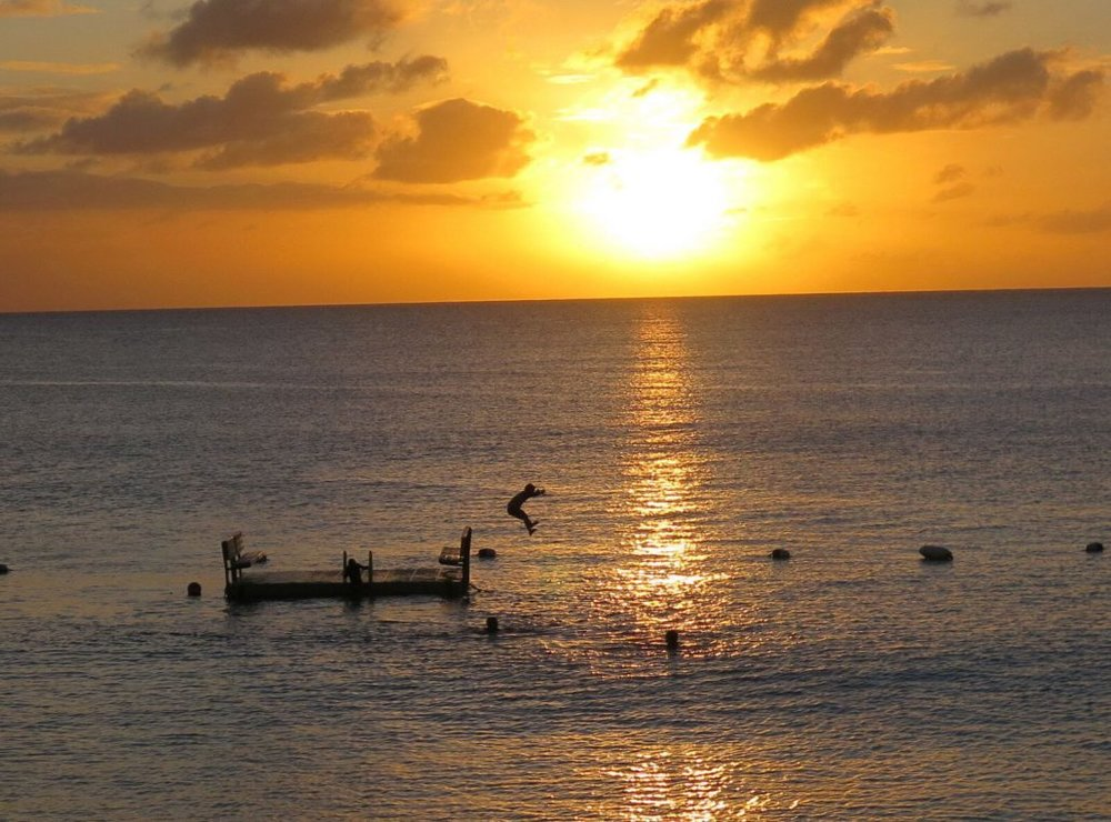 Sunsets are particularly magical on the west coast of Barbados. This was taken at Mullins Beach Bar.  JIM BYERS PHOTO