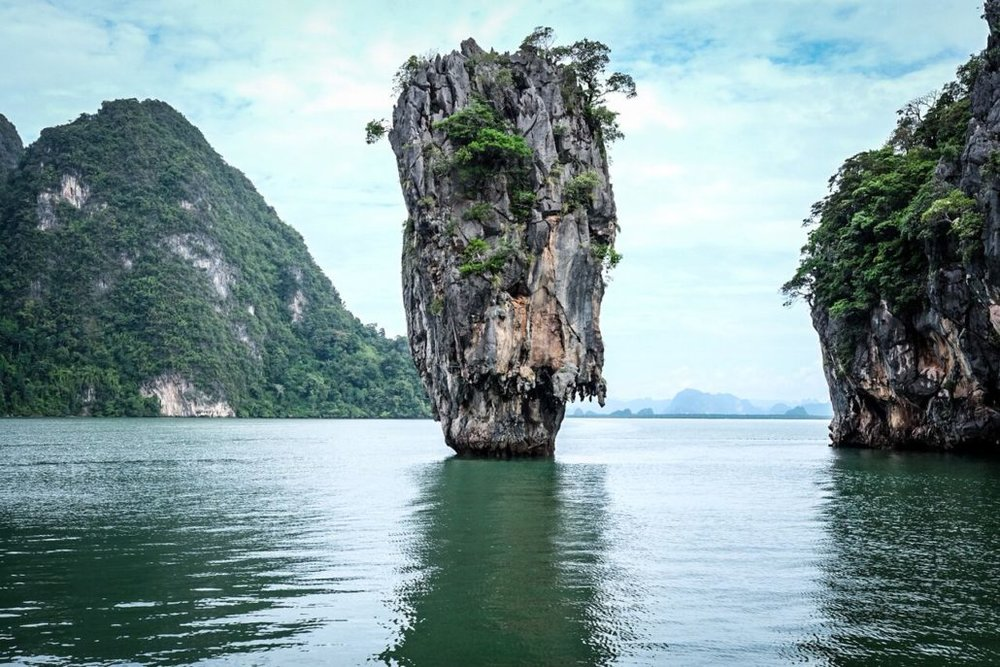 One of the island elevations around James Bond Island in Thailand.