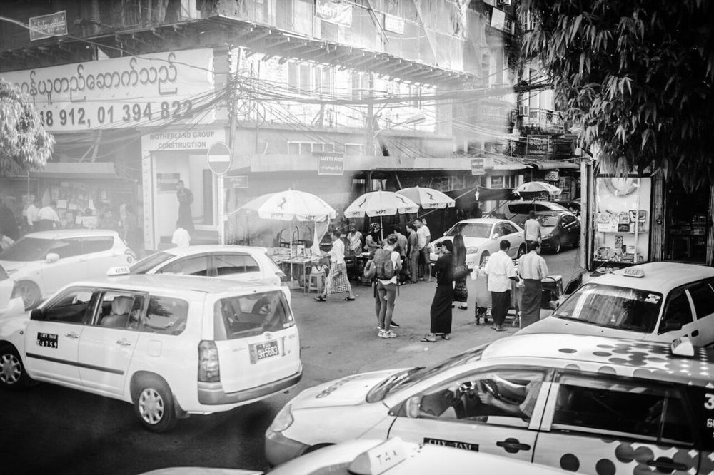 A look at the bustling city centre of Yangon.