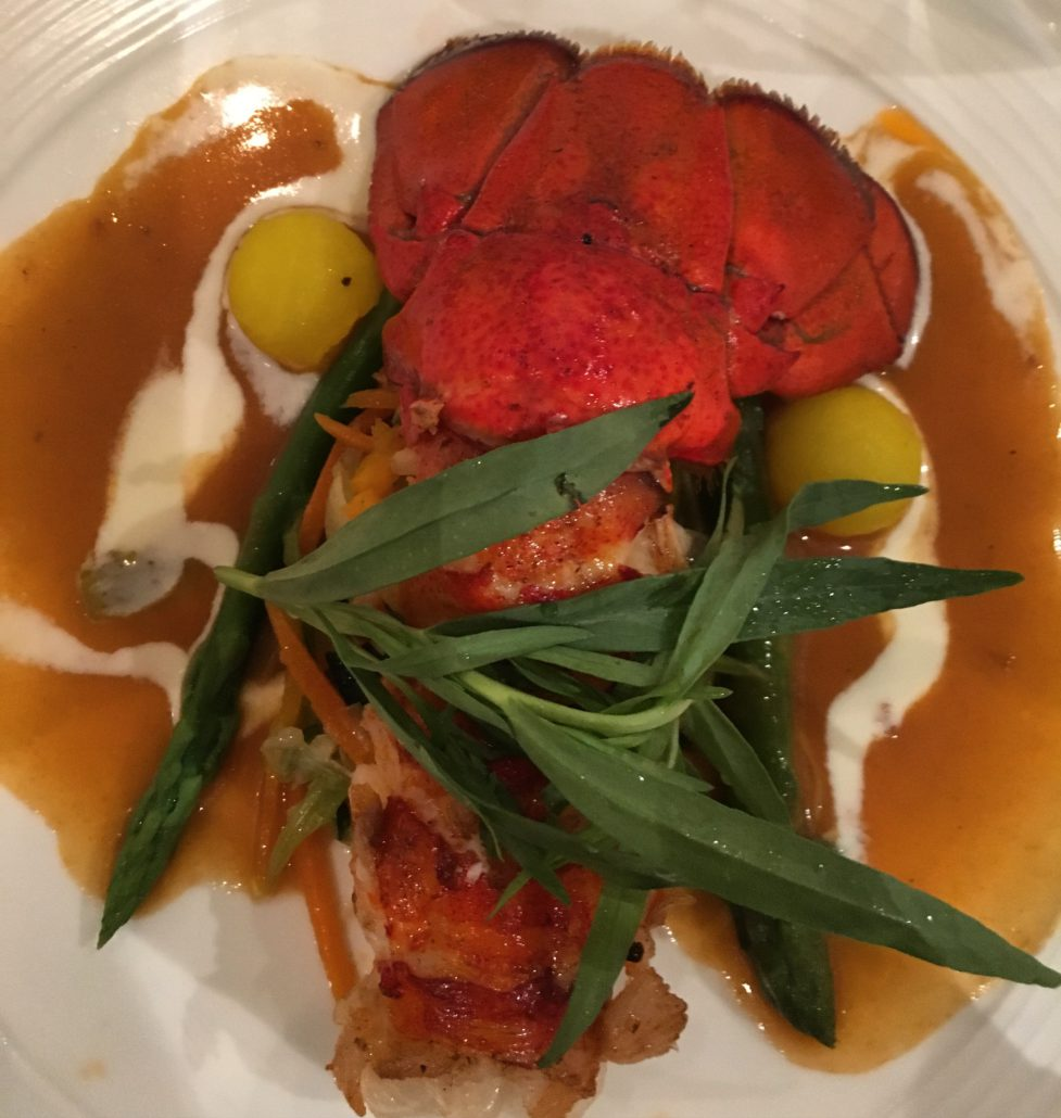 Fresh lobster tail extraordinaire! Each meal is always an haute gourmet experience onboard the Silver Spirit.