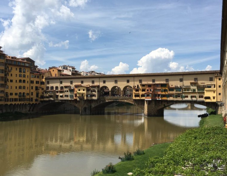 We have lunch at a riverside trattoria, soaking in the sights of wondrous Florence…