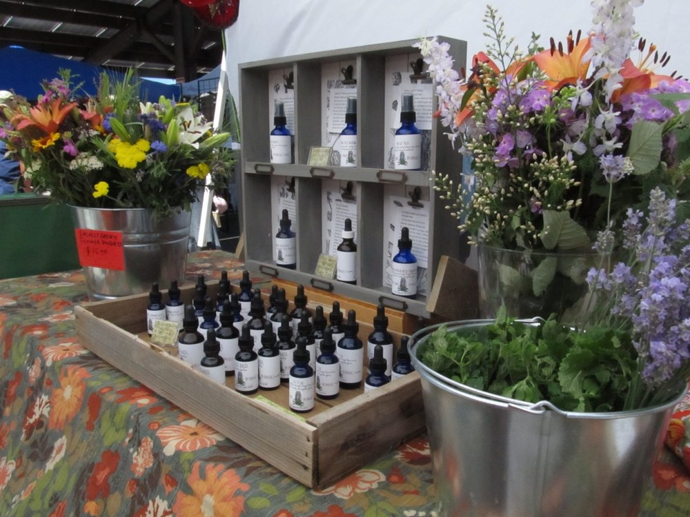 Agave Maria Botanicals market display