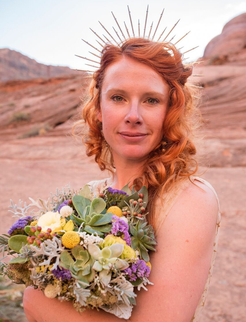 Succulent Bridal Bouquet  Photography by D. Kish