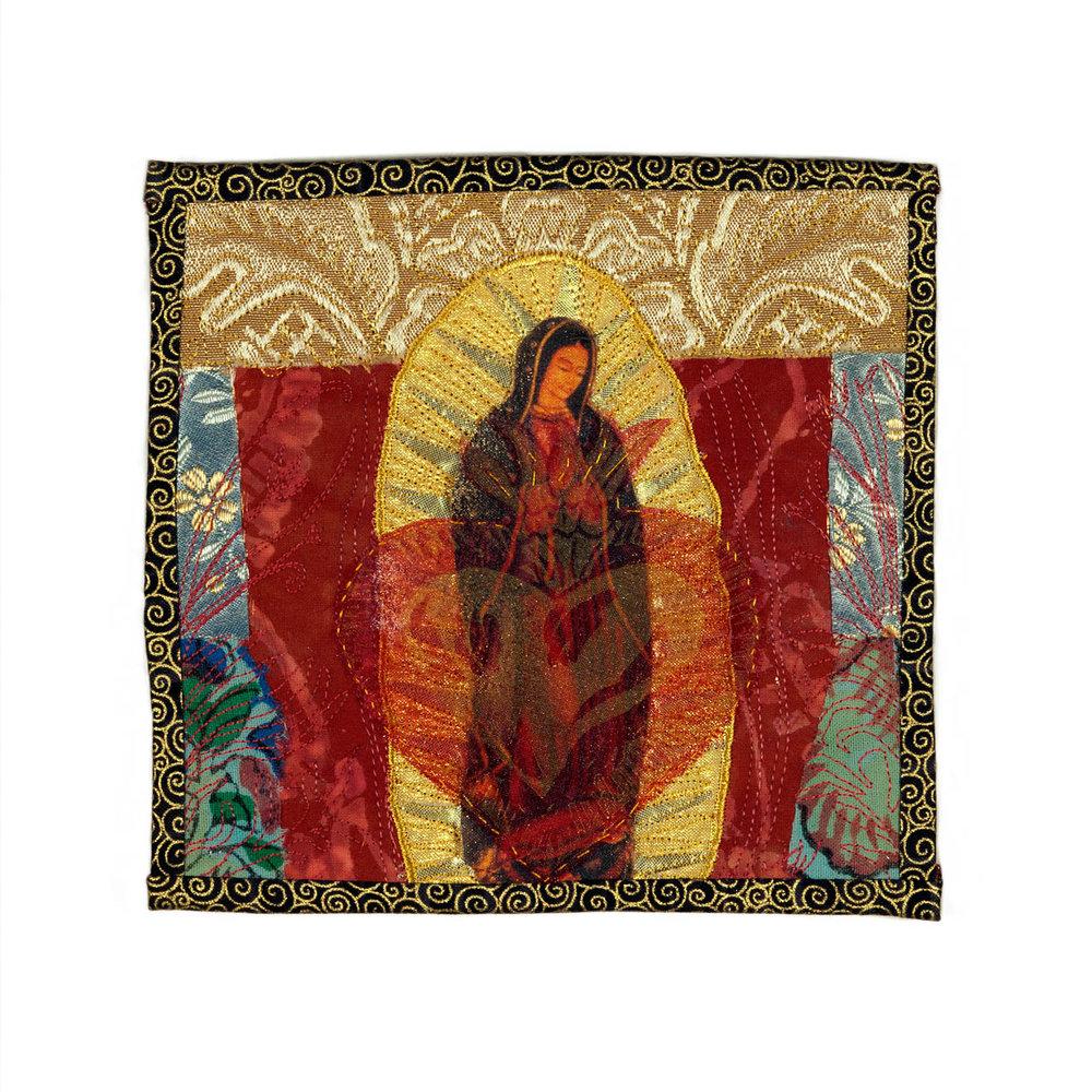 """Virgen de Guadalupe 9"""" w X 9"""" h"""