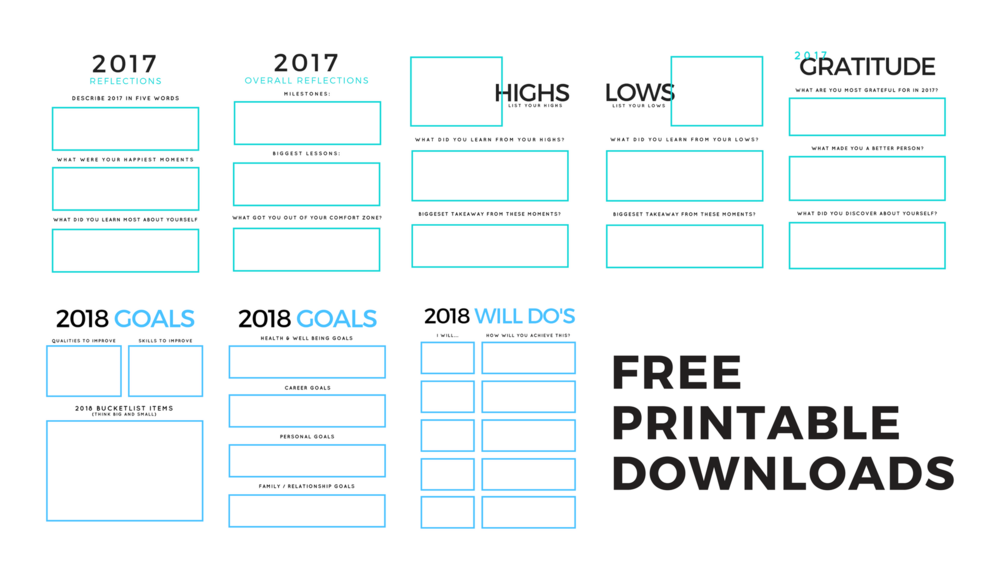 best 2018 goal setting template free printable downloads