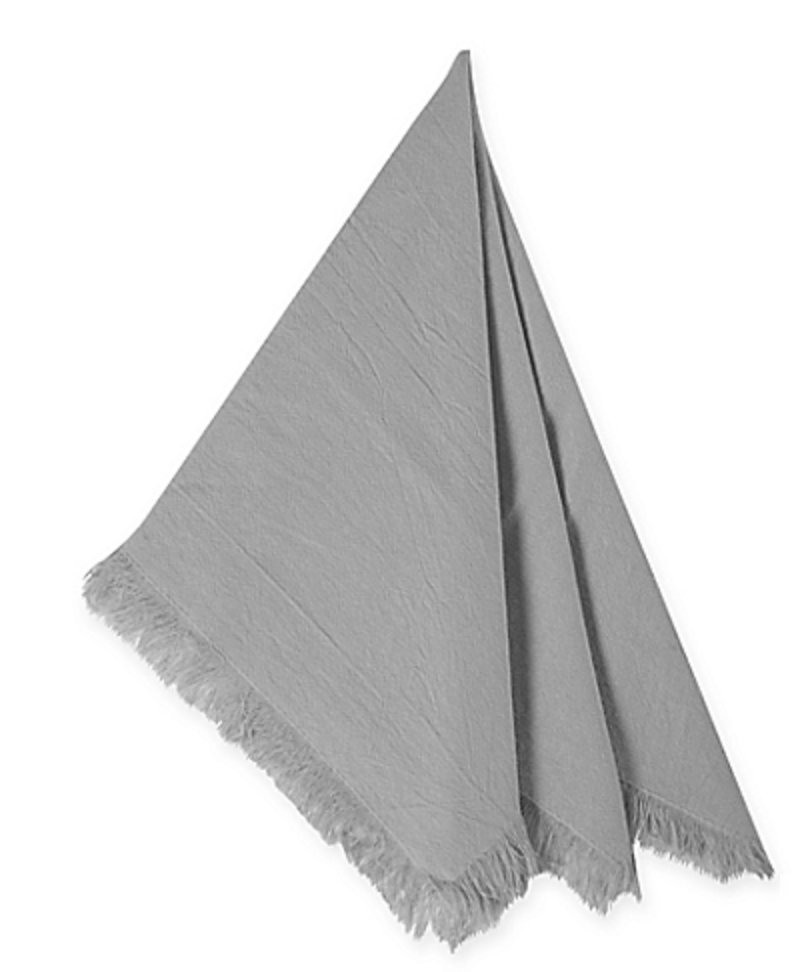 Relaxed Cotton Napkins - Grey