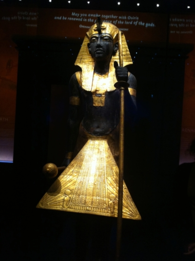 First time out of Egypt! The guardian of Ka statue guarding King Tut's tomb.