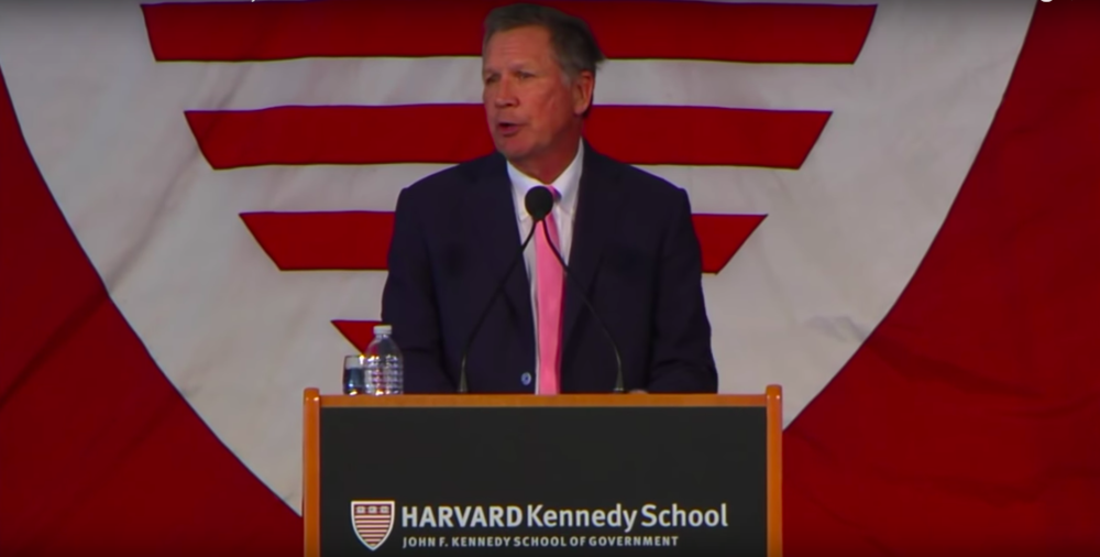 John Kasich Harvard Commencement