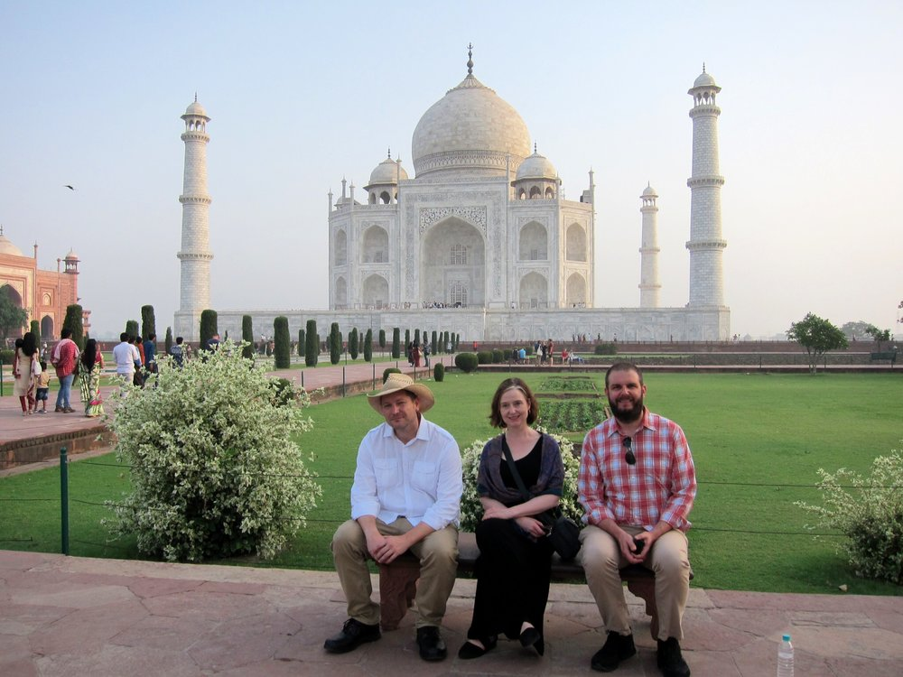 During their trip to India, the PEN trio also visited the Taj Mahal.
