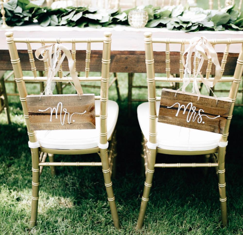 Gold Bamboo Wood Chiavari Chairs