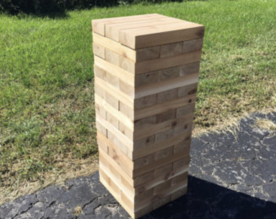 Massive Jenga Yard Game