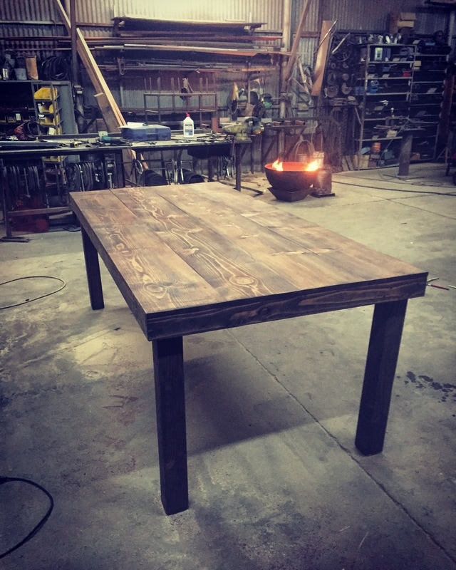 The first official completed farm table