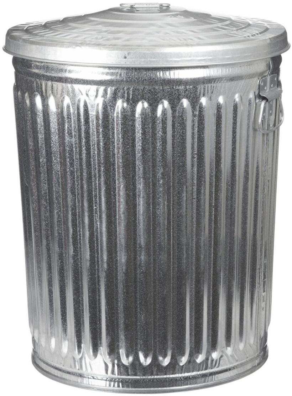 Metal Trash Can