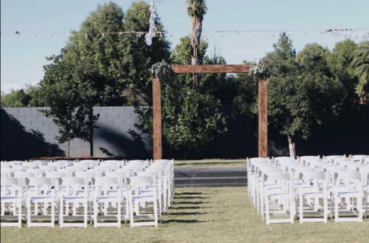 White Wood Folding Chairs
