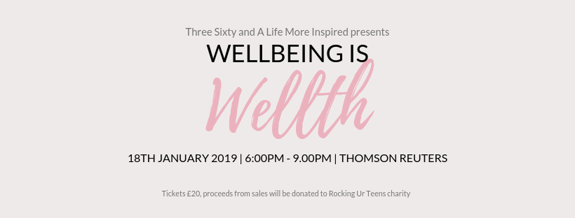 wellbeing is wellth, live three sixty, everyday joy, a life more inspired, Nicola Rae Wickham, tamu Thomas