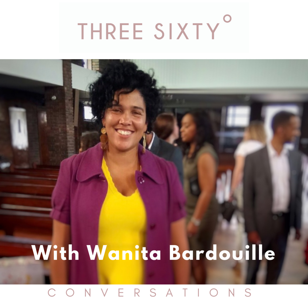 Wanita Barbouille. Ralph Lauren, Visual Merchandising UK, Three Sixty conversations, three sixty podcast, tamu Thomas, wellness podcast, live three sixty, Patricia bright, sharmadean Reid, Freddie Harrell, black CEO, female founder, black female founder