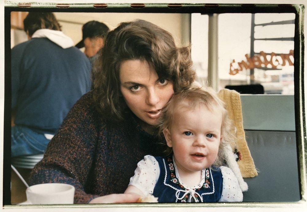 Caroline and Meredith circa 1987